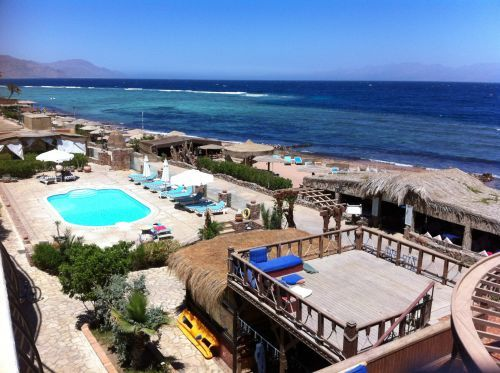 Our hotel in Dahab, next to the tropical waters of the Red Sea. Great snorkelling! ©Venus Adventures
