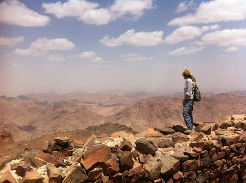 Stunning views over the Sinai desert from a mountain top near St Katherines village ©Venus Adventures