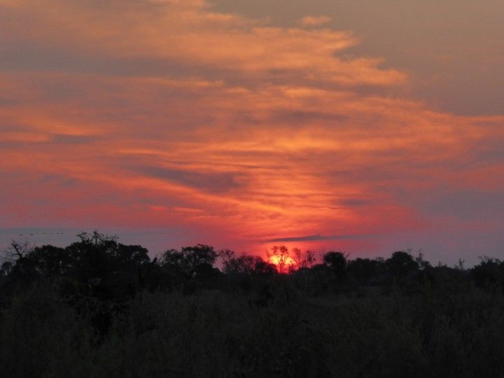 Sunset over the Okavango Delta, Africa ©Venus Adventures