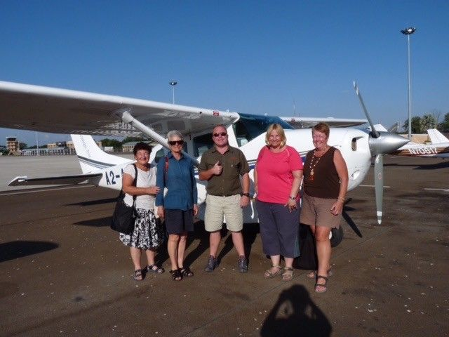 Getting ready for a scenic flight over the Okavango Delta ©Venus Adventures