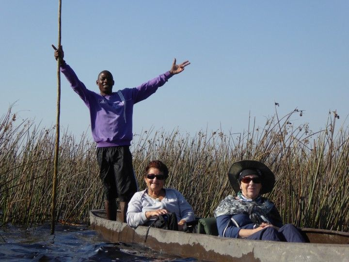 Going for canoe ride with the ladies in the Okavango Delta ©Venus Adventures