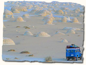 jeep safari in the White Desert, Egypt