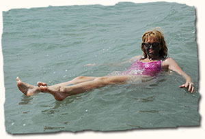 Float in the buoyant Dead Sea waters, Jordan