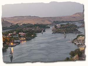 Sailing on the river Nile, Egypt
