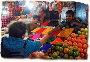 Mysore, vibrant markets of this royal town
