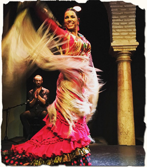 Flamenco dancing in Sevilla, Spain