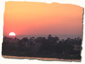 Sunset over the River Nile, Egypt