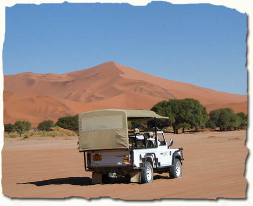 giant sand dunes at Sesriem and Sossusvlei