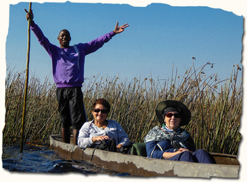 Women only African Safari, dugout canoe trip