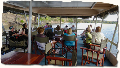 African safari, boat cruise on the Chobe River